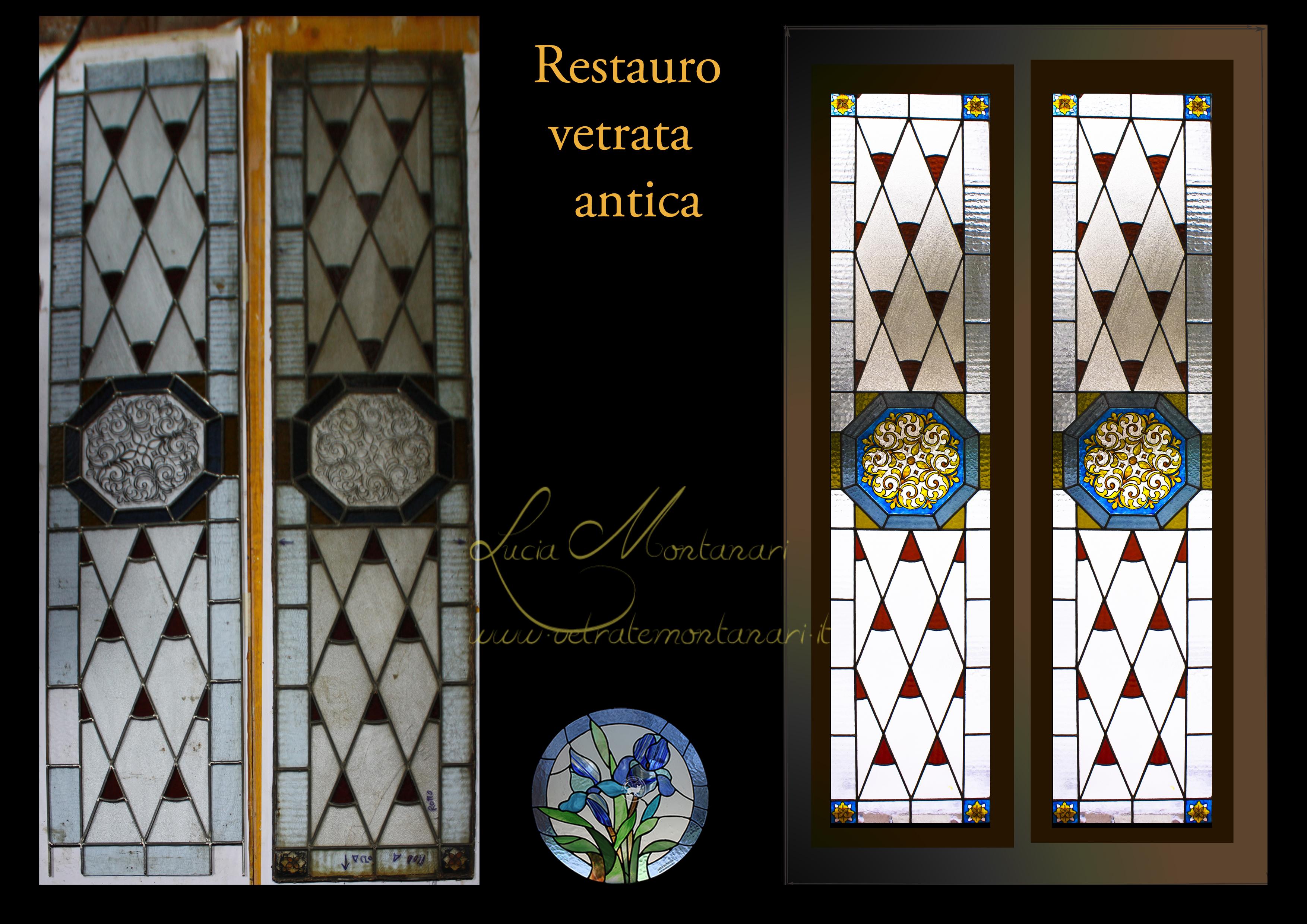 vetrata antica restaurata